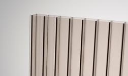 Kanalinis polikarbonatas 16mm bronza 2100x3000