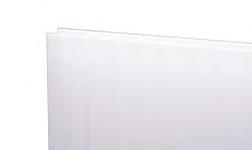 Kanalinis polikarbonatas 10mm, baltas 2100x6000