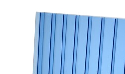 Kanalinis polikarbonatas 10mm, mėlynas 2100x6000