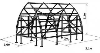 Fermer 3.5  papildoma sekcija 3,5mx2,1m 7,35m2 6mm