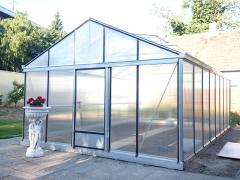 Šiltnamis Magna 6,04 / 27,60 m2 / 4mm saugiu grūdintu stiklu ir su aliuminio pagrindu