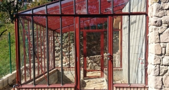 Šiltnamis Murus 2.33 / 7.20 m2 / su 4mm saugiu grūdintu stiklu ir su aliuminio pagrindu