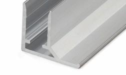 Aliuminis užbaigimo profilis, 10 mm, sidabrinis