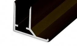 Aliuminis užbaigimo profilis, 6 mm, rudas (anoduotas)